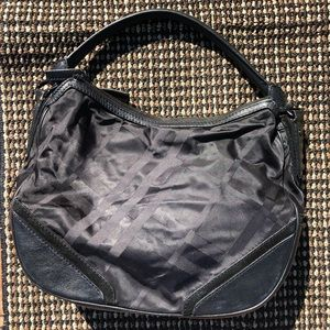 c54e042d2f85 Burberry Black Tonal Check Nylon Maskell Hobo